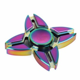 Colorful EDC Hand Spinner Finger Spinner Fidget Gadget Focus Reduce Stress Gadget Dazzle Color Crab Quadrangle Style
