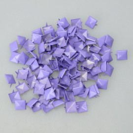 100Pcs 12MM Pyramid Studs Spike Rivet Nailhead Spots Leathercraf DIY Fluorescein Purple