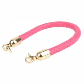 40cm DIY Replacement Woven Hand Bag Shoulder Strap with Clasp Rose Red