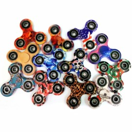 Camouflage Tri-Spinner Fidget Toys 3D Fidget EDC Hand Spinner Anti Stress Toys Random Color