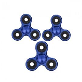 3pcs Hand Spinner EDC Metal Fidget Spinner Beyblade Gyro Stress Tri-Spinner Blue