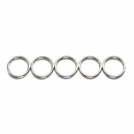 12pcs Children Educational Magnetic Toy Assembly Part Iron Rings Random Color