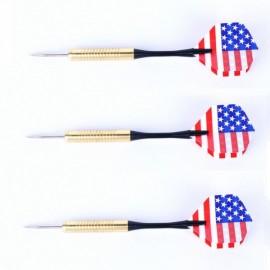 3pcs Flag of the United States Pattern Gilded Dart Needles