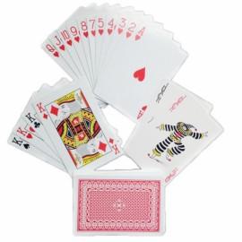 BVC Plastic Poker Cards Waterproof Wear Resistant White & Red