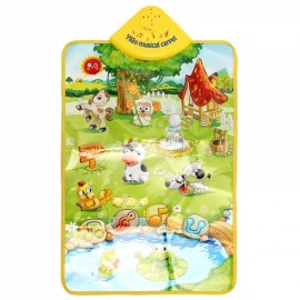 Baby Musical Farm Play Mat Children Animal  Crawling Mat Music Sound Touch Play Singing Gym Carpet Mat Toy Gift