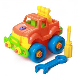 Puzzle Building Toys Develop Learning Fun Tools Random Color Truck