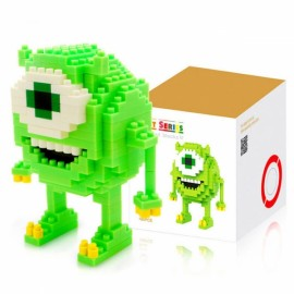LOZ 180pcs M-9162 Anime Monsters University Mike Building Block Educational Toy Green & White & Yellow
