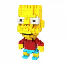 LOZ 200pcs M-9337 The Simpsons Bart Simpson Building Block Educational Toy White & Gray & Black & Yellow