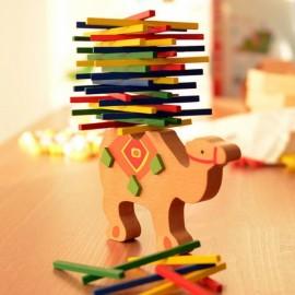Kid Baby Educational Toy Balance Game Wooden Balancing Blocks Montessori Blocks Camel Pattern