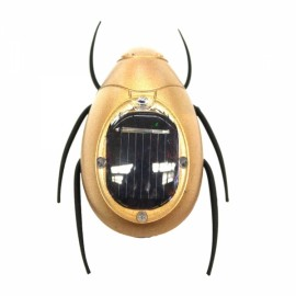 Solar Powered Scarab Toy Black & Golden