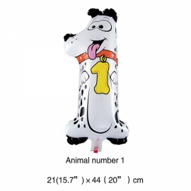 16 inch Animal Number Aluminum Foil Balloon Birthday Party Decoration Balloon Number 1