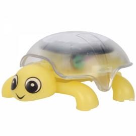 Mini Sunlight Solar Educational Toy Little Tortoise Turtle Gift Yellow