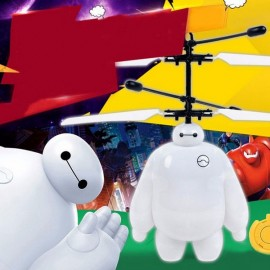 Children Flying Aircraft Induction Charging Ruggedness Remote Control Big Hero Suspension RC Helicopter White