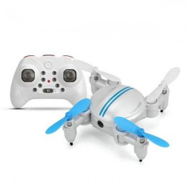 Xgody Z201YS Mini WIFI RC Camera Foldable RC 2.4GHz 6-Axis Gyro 3D Hover Drone FPV Quadcopter Blue