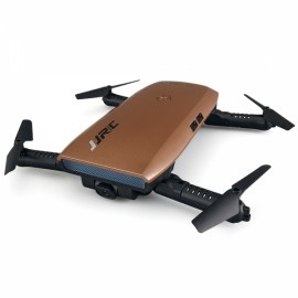 JJRC H47 Elfie+ Quadcopter Foldable G-sensor Control Drone With WiFi 720P HD Camera Altitude Hold Metal Brown