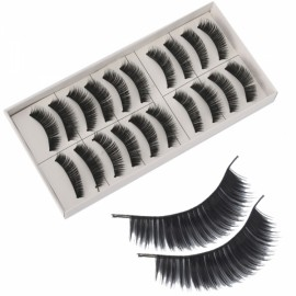10 Pairs Long False Eyelashes (SKS025)