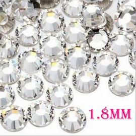 1440pcs 1.8mm Nail Art Glitter Tips Super Bright Rhinestones White 5#