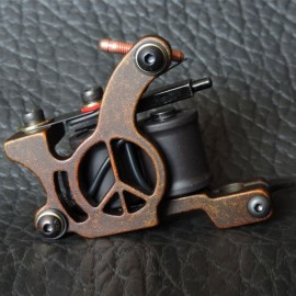Panther XHJ005C 10-Coil Shader Tattoo Machine Red Bronze