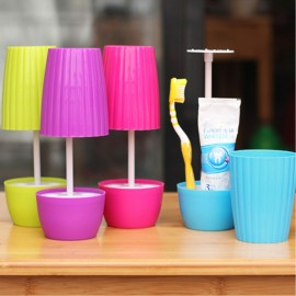 Creative Bonsai Style Table Lamp Shape Toothbrush Cup Toothpaste Holder