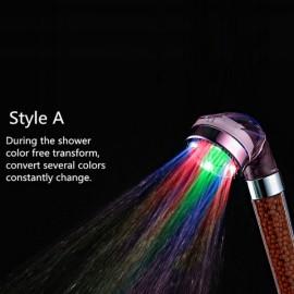 Crystal Tourmaline SPA Anion LED Shower Head Style A