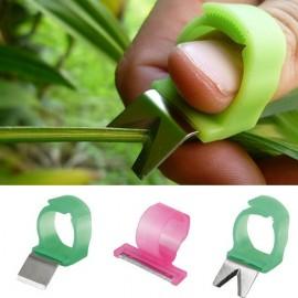 3pcs Adjustable Vegetable Fruit Picker Picking Ring Gardening Harvesting Stainless Steel Cut Tool Random Color