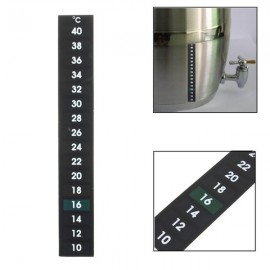 10-40? Automatic Rectangle Home Brewing Stick on Thermometer Temperature Sticker Black