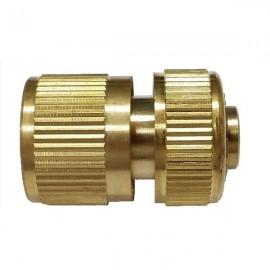 Brass Garden Lawn Water Hose Pipe Fitting Set Connector Tap Adaptor Golden