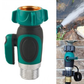 3/4 Inch Garden Hose 1 Way Shut Off Valve Water Pipe Faucet Connector US Standard Thread