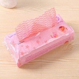 80pcs/set Extraction Style Disposable Non-woven Fabrics Kitchen Cleaning Cloth for Dishes Glasses Window Pink