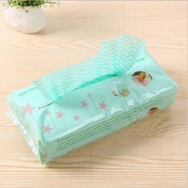 80pcs/set Extraction Style Disposable Non-woven Fabrics Kitchen Cleaning Cloth for Dishes Glasses Window Green