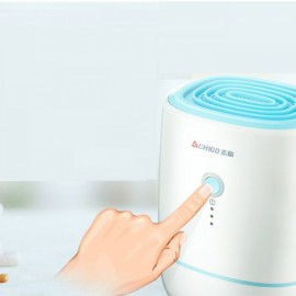 ZG-C1302 Portable Mini Semiconductor Dehumidifier Desiccant Moisture Absorbing Air Dryer Thermo-electric Cooling for Wardrobe US Plug White & Blue