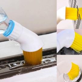 Creative Porable Door Window Bristle Water Injection Cleaning Brush Plastic Gap Brush Head Random Color
