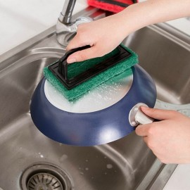 Kitchen Powerful Sponge Brush Stain Remove Cleaning Brush Random Color