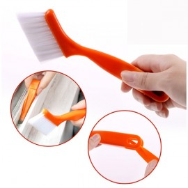 2-in-1 Multi-purpose Window Groove Cleaning Brush Keyboard Nook Cleaning Brush with Small Shovel Random Color