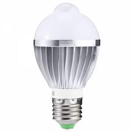 E27 6W 650LM Warm White Human Body and Infrared Sensor Lights LED Bulb (AC 85-265V)