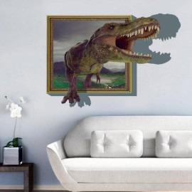 3D Dinosaur Style Removable Wall Sticker Water Resistant Decorative Art Poster aw8002C