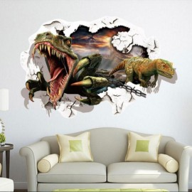 3D Dinosaur Style Removable Wall Sticker Water Resistant Decorative Art Poster aw8002D
