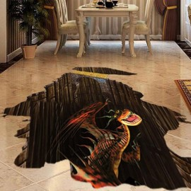 3D Dinosaur Style Removable Floor Stickers Water Resistant Decorative Art Poster for Sitting / Kids / Living Room / Party
