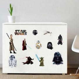 Star War The Force Awakens Character Darth Vader Yoda Death Star Room Decor Wall Sticker DIY Computer Refrigerator Mural