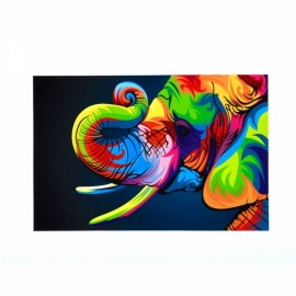 Neutral Colorful Animals of Elephant Oil Painting Spray Painting