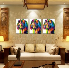 Neutral Colorful Animals of Dog Oil Painting Spray Painting Size S
