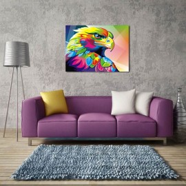 Neutral Colorful Animals of Eagle Oil Painting Spray Painting