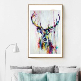 Colorful Deer Oil Painting Spray Painting