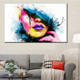 Colorful Beauty Face Oil Painting Decoration Spray Painting