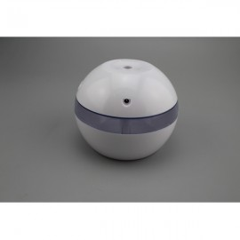 USB Humidifier Aroma Oil Diffuser Air Purifier Mist Maker LED Night Light for Home Office White & Purple