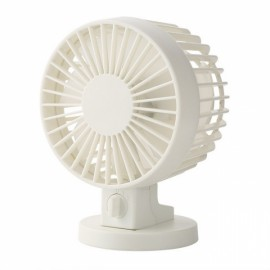 Portable Two-bladed USB Mini Cooling Fan White