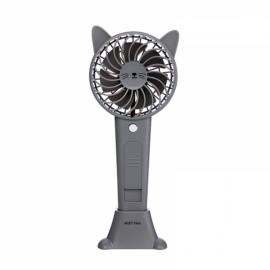 1200MA Cute Animal USB Rechargeable Fan Handheld Spray Fan Summer Water Mist Fan 3 Type Bear Baby Gray