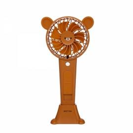 1200MA Cute Animal USB Rechargeable Fan Handheld Spray Fan Summer Water Mist Fan 3 Type Bear Baby Brown