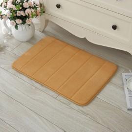 40 x 60cm Coral Velvet Memory Foam Rug Bathroom Mat Soft Non-slip Floor Carpet Khaki