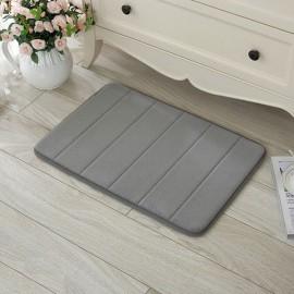 40 x 60cm Coral Velvet Memory Foam Rug Bathroom Mat Soft Non-slip Floor Carpet Gray